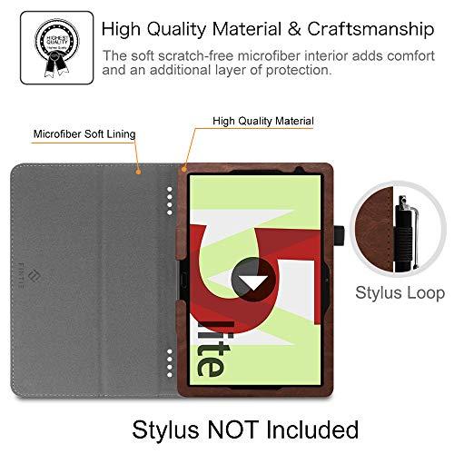 Fintie Hülle Case für Huawei MediaPad M5 Lite 10 - Ultra Schlank Folio Stoff Schutzhülle mit Auto Sleep/Wake Funktion für Huawei MediaPad M5 Lite 10 10.1 Zoll 2018 Tablet PC, Denim grau - 3