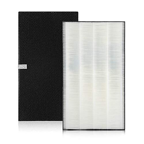 Universe 2074191 脱臭フィルター と KAFP029A4 集塵フィルター 空気清浄機交換用フィルター 互換品 2枚入り