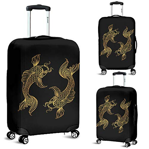 Pisces Zodiac Luggage Suitcase Cover Protector Decor Pisces Fish Lover Gift (Large)