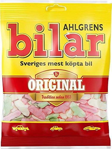 10 Bags x 125g of Ahlgrens Bilar Original - Swedish - Chewy - Marshmallow - Cars - Candies - Sweets - New Design!