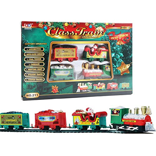 Groust Juego de tren de Navidad para niños, 22 piezas, con sonidos realistas y luces, para niños