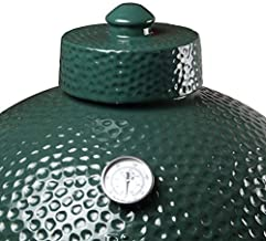 KAMaster Ceramic Damper Top for Medium Large and XLarge Big Green Egg,Dual Function Ceramic Grill Top Damper,Kamado Accessories Charcoal Grill Top Parts Replacement for Easy Grasp and Anti-Hot