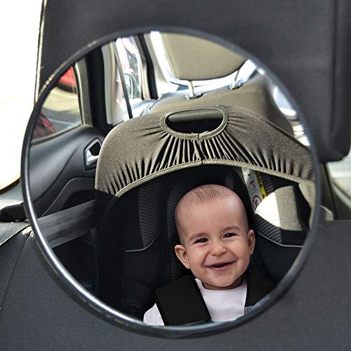 Miroir rétroviseur de surveillance pour siège auto bébé - 360° rotatif - Surveillez bébé dos à la route