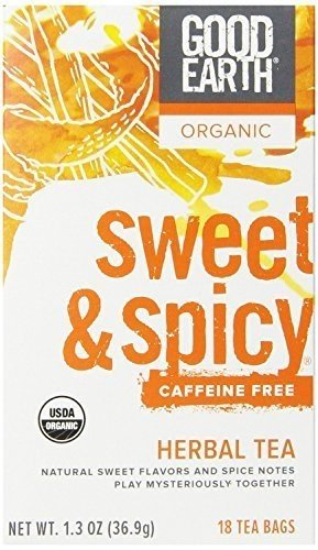 GOOD EARTH TEA DCF SWT & SPICY ORG, 18 BG, PK- 6
