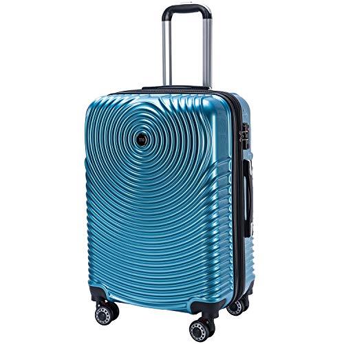 TTOvaligeria スーツケース 超軽量 容量拡張 大容量 TSAロック搭載 静音 旅行用品 S機内持込 (Lサイズ, アイスブルー)