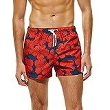 Mr.Macy Mens Shorts Swim Trunks Quick Dry Beach Surfing Running Swimming Shorts Dark Blue