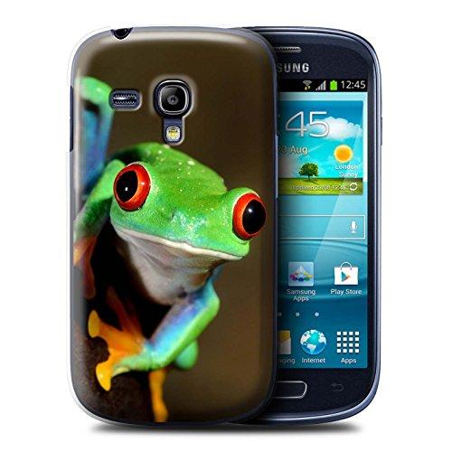 Hülle Für Samsung Galaxy S3 Mini Wilde Tiere Frosch Design Transparent Ultra Dünn Klar Hart Schutz Handyhülle Case