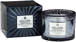 Voluspa ボルスパ ヴァーメイル ボックス入り グラスキャンドル マカッサルエホ?ニー&ヒ?ーチ MAKASSAR EBONY&PEACH VERMEIL BOX Glass Candle
