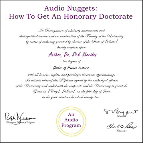 Audio Nuggets: How to Get an Honorary Doctorate audiobook cover art