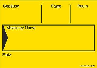 40x Umzugetiketten Nr.4, 105x74, Beschriftung mit Etiketten vom Umzugskarton für den Umzug, Umzugsetiketten, Gelb