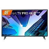 Smart TV LED 49' LG ThinQ AI Ultra HD 4K 49UM731C 3 HDMI 2 USB Wi-fi com Conversor Digital
