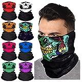 8 Pack Lightweight Summer Face Cover, Reusable Sun UV Protection Face Mask Neck Gaiter, Cooling Breathable Scarf Sunscreen Bandana Skull Neck Gaiters for Men Women, Sport Outdoor