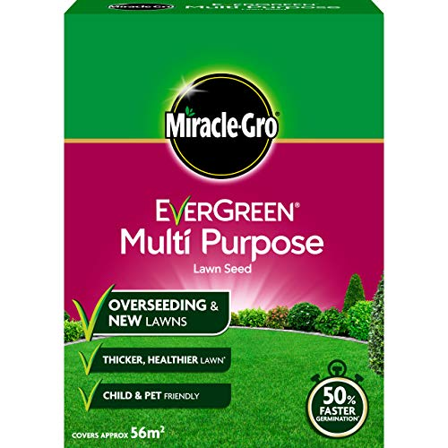 Miracle-Gro 119615 EverGreen Multi Purpose Lawn Seed 1.6kg - 56m2, White