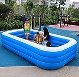 Dljyy Piscinas Infantiles Piscina Inflable portátil de niños al Aire Libre de baño Piscina for Adultos de los niños al Aire Libre Diversión Patio Patio de Madera Playa (Size : Medium)
