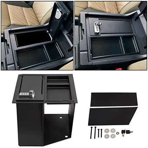 ECOTRIC Center Console Safe Gun Storage w/Tray Key Lock Box Compatible...