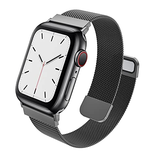 MRAIN-H Compatible with Apple Watch Band 41mm 40mm 38mm 45mm 44mm 42mm Women Men, Mesh Stainless Steel Wristbands with Powerful Magnetic Clasp for iWatch Bands Series 7/6/SE/5/4/3/2/1