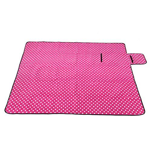 X-Labor Outdoor Picknick Decke Fleece 200x200 cm XXL mit wasserdichter Unterseite (Rosa)