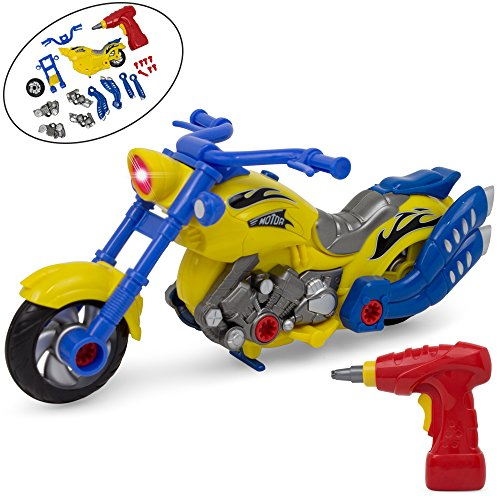 Take-A-Part Motorcycle Toy - Lights and Sounds - Power Drill - Tool Parts