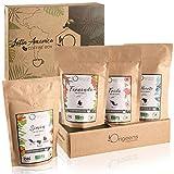 ☘� CAJITA CAFÉ MOLIDO ECOLOGICO | Caja café degustación, 4x250g, Torrefactado Artesanal | Café ecológico molido Arábica | Idea para Regalar