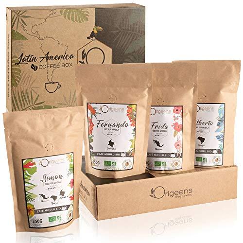 SET GEMAHLENER KAFFEE BIO | Kaffee Probierset, 4x250g, Traditionelle Röstung | BIO Kaffee gemahlen Arabica | Geschenkidee