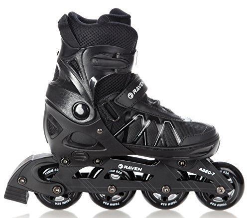 RAVEN Inline Skates Inliner Expert Black verstellbar (40-43(25,5-27,5cm))