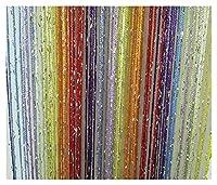 カーテン 100CMX200CMタッセルフラッシュラインドア窓カーテンバランス分割器パーティーベッドルームの結婚式のための装飾品 タッセル (Color : New colorful, Size : 100cmX200cm)