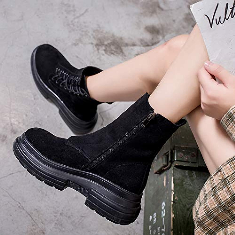 HOESCZS Frauen Schuhe Herbst Kurze Stiefel Dicke Unteren Muffin Einzelne Schuhe Weibliche Martin Stiefel Frauen  | Üppiges Design  | Deutschland Online Shop  | Hohe Sicherheit