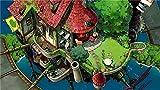 Lulcly Puzzle 1000 Piezas Adultos Dibujos Animados De Azulejos Rojos Casa De Ladrillo Y Niño Sobre El Agua Madera Regalos Educativos De Bricolaje Para Niños Pieza Póster