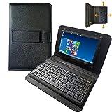 para Pantalla Raspberry Pi 4 - Pantalla táctil de 7 Pulgadas con Funda de Cuero y Teclado USB Separado - Pantalla IPS 1024x600 - Mini Monitor para Raspberry Pi/Laptop/PC Windows