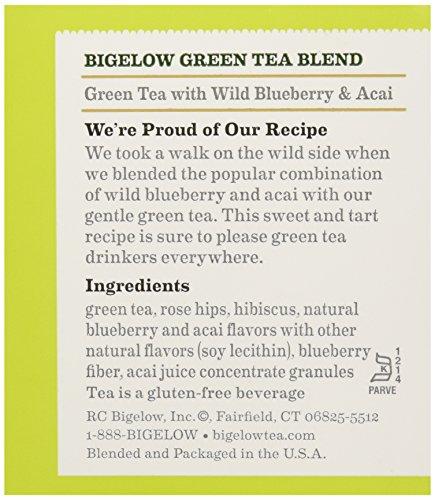 Bigelow Tea Green Tea with Blueberry, 20 ct