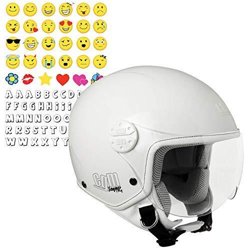 CGM 205s-gsa-14 Blanc (YM) casque enfant (Havana Smile)