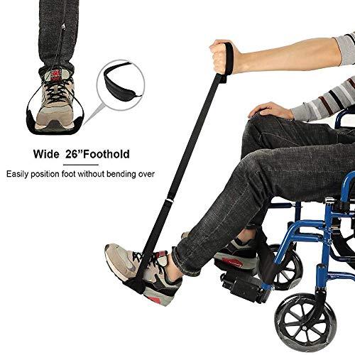 Beinhebergurt Starrer Beinheber mit Hand- und Fußschlaufen für ältere Menschen Mobilitätshilfen für Behinderte Aufstehhilfe für Betten Rollstühle und Autos