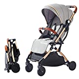 SONARIN Lightweight Stroller,Compact Travel Buggy,One Hand Foldable,Five-Point Harness,Great for Airplane(Grey)