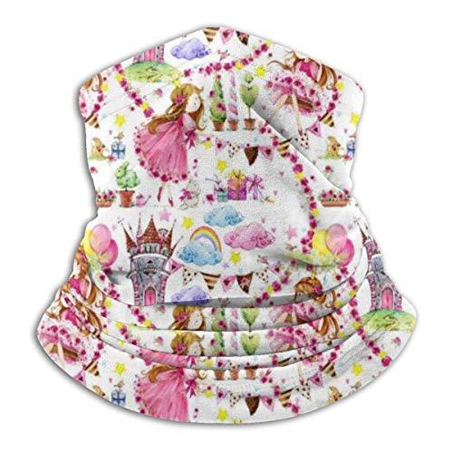 Cathycathy Cute Princess Unicron Castle Neck Warmer Gaiter Bandana Head Wrap Scarf Headwear Balaclava