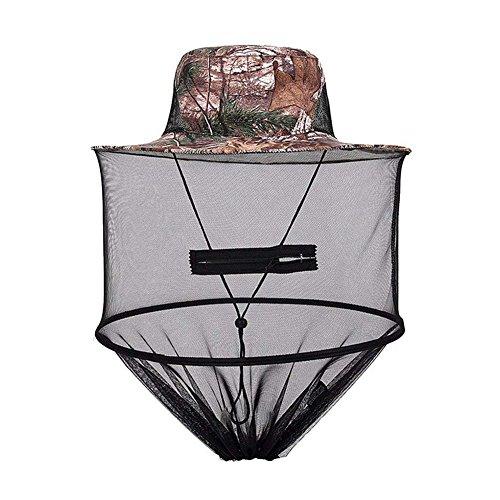 Snow Island Camouflage Imker Hat für Bee Schutz Mückenschutz, Outdoor Kopf Schutz und Gesicht Schutz Netz