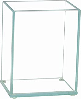 Royal Imports Flower Glass Vase Decorative Centerpiece for Home or Wedding Flat Rectangle Plate Glass, 4