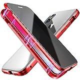 Anti-pío Funda compatible con iPhone 12 iPhone 12 Pro, adsorción magnética Anti-Spy Cobertura de Pantalla Completa de...