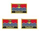 Kiribati bestickte Flaggen-Aufnäher, 3 Stück