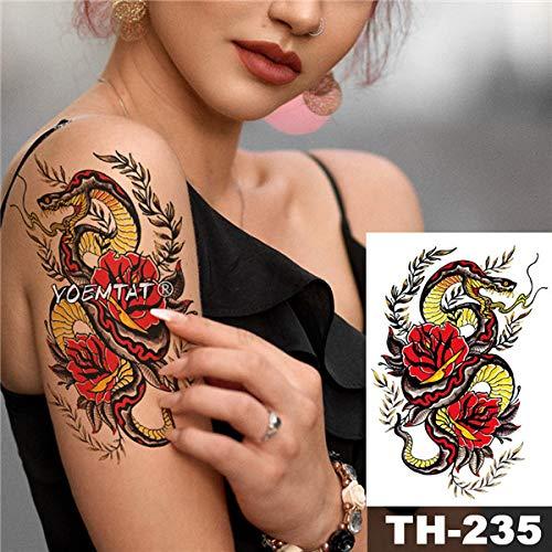 tzxdbh 5 Stks-Waterdichte Tattoo Sticker Rode Rose Kant Geometrische Patroon Romantische Water Transfer Lichaam Kunst Tatoo-In Tattoos Van 12 5pcs-12