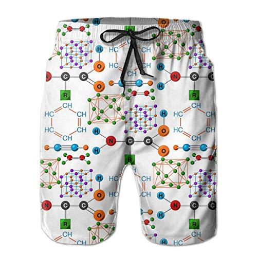 Zhengzho Bañador para Hombre Estructura Molecular Medical Evolution Life Surf Tabla de Playa Shorts Trajes de baño, Talla XL