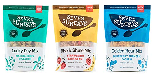 Seven Sundays Grain Free Muesli Cereal Variety Pack (10 Oz, Pack Of 3) | Paleo Friendly | Gluten Free Certified | No Refined Sugar | Non-Gmo Verified