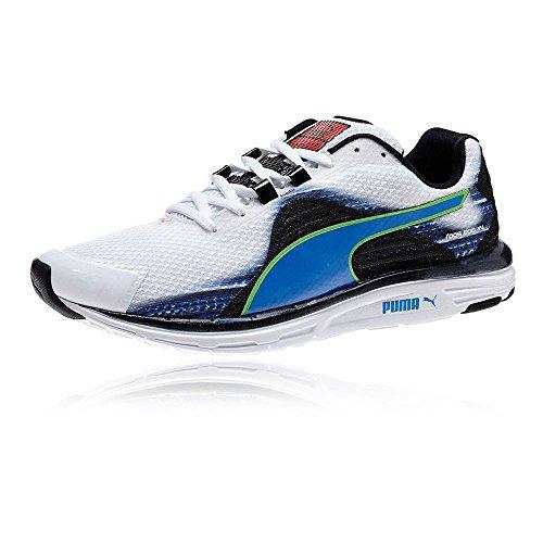 PUMA FAAS 500 v4 2015 Herren Laufschuhe Joggingschuhe Running Shoes 187525(WHITE/BLUE-BLACK/GREEN - weiss, blau, schwarz, grü,46,5)
