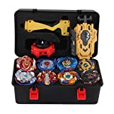 chiwanji 8pcs Top Toy Metal Funsion Burst Gyro Top + Caja de Almacenamiento Juguetes Regalos
