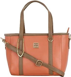 ESBEDA Orange Color Beautiful self Design handbag For Women