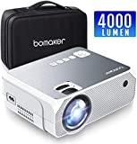 Projector, Mini Projector Portable, BOMAKER 3,600 Lux LCD Video Projector, FULL HD 1080P and 250'' Display Supported, Compatible with TV Stick, PS4, HDMI, VGA, TF, AV and USB