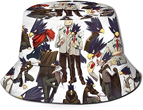 HESMENO My Hero Academia Bucket Hat Unisex Sombrero de sol Protección Gráfica Moda Sombrero de Pescador