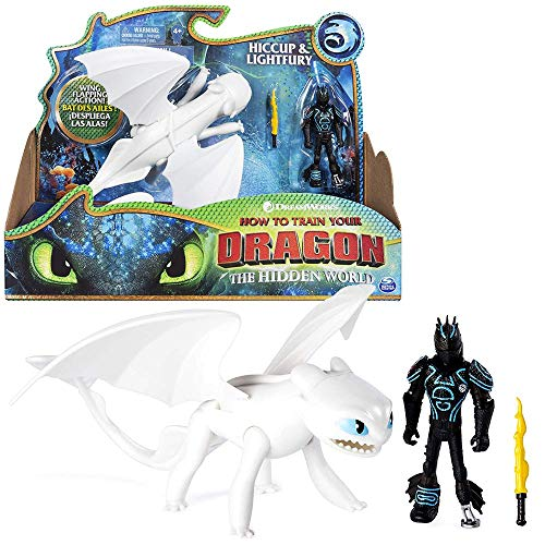 Dragons Drache Tagschatten & Hicks | DreamWorks Action Spiel Set | Lightfury