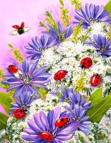 WSLMR Pattern Diamond Embroidery DIY Needlework Flower Diamond Painting pakket 5D Rhinestones Decor Paintings 30X40CM
