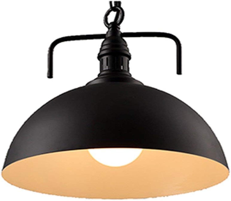 Lustre rétro industriel, lampe de plafond pendentif chandelier noir pour Restaurant Cafe Bar, lumières suspendues avec cache-pot E27 (Couleur  Noir-40  38CM) ( Couleuré   noir-3027cm , Taille   - )