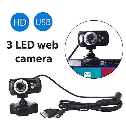 Alician USB HD Webcam Web Camera met MIC voor Computer PC Laptop Desktop, Eén maat, Zwart
